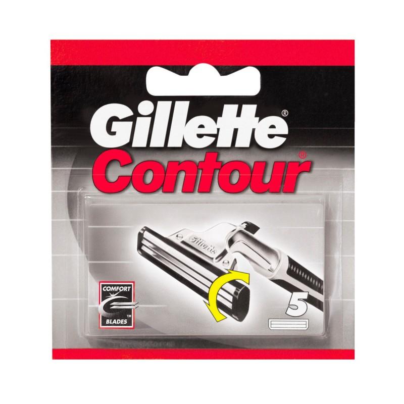 GILLETTE CONTOUR RICAMBI 5 PZ.