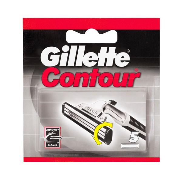GILLETTE CONTOUR RICAMBI 5 PZ.  , LAME E RASOI PER UOMO, S001251, 10222