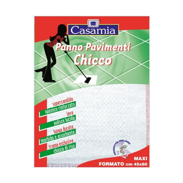 PANNO PAVIMENTO CHICCO SUPER CANDIDO GRANA DI RISO 45X60 IMBUSTATO, SCOPE / PANNI E ACCESSORI PAVIMENTI, S020258, 10864