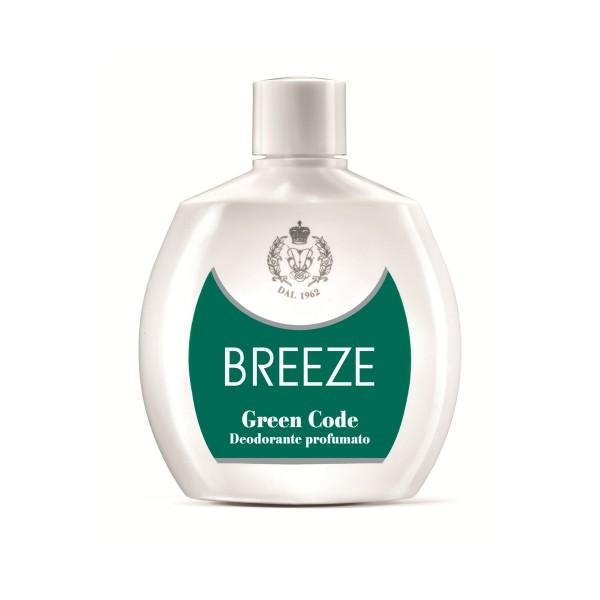 BREEZE DEODORANTE SQUEEZE GREEN CODE 100 ML, DEODORANTI ANTIODORE PER PERSONA, S002748, 11460