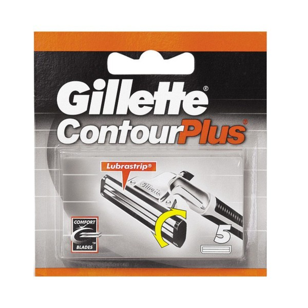 GILLETTE CONTOUR PLUS RICAMBI 5 PZ. , LAME E RASOI PER UOMO, S004941, 12283