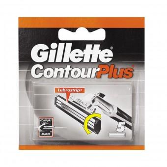 GILLETTE CONTOUR PLUS RICAMBI 5 PZ.