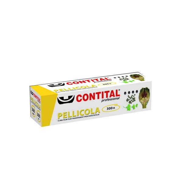 CONTITAL PELLICOLA TRASPARENTE METRI 300 FORMATO PROFESSIONALE, AVVOLGENTI ALIMENTARI, S004254, 12552