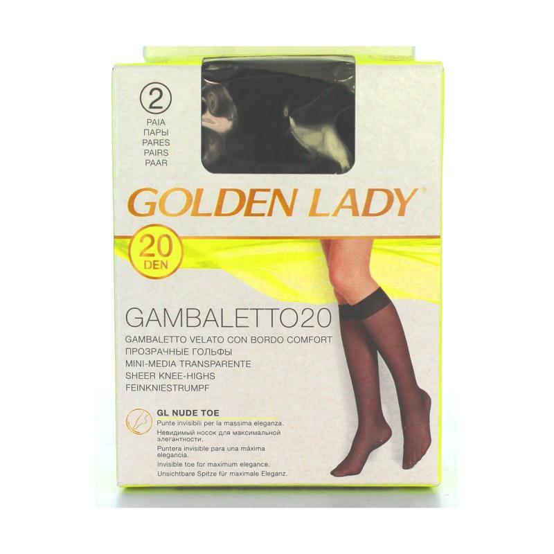 GOLDEN LADY GAMBALETTO 20 DEN NERO TAGLIA UNICA