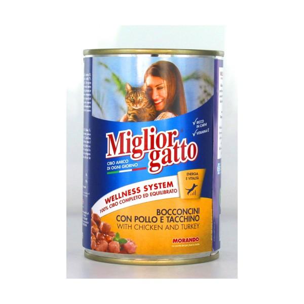 MIGLIOR GATTO BOCCONCINI POLLOeTACCHINO LATTINA 405 GRAMMI , NUTRIZIONE, S006623, 14429