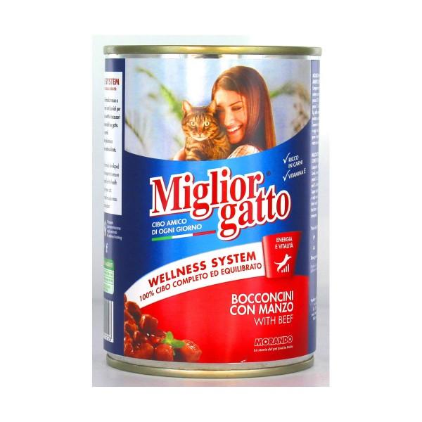 MIGLIOR GATTO BOCCONCINI MANZO LATTINA 405 GRAMMI, NUTRIZIONE, S006619, 15137