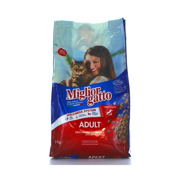 MIGLIOR GATTO ADULT CROCCANTINI MANZO SACCO 2 KG, NUTRIZIONE, S020336, 16409
