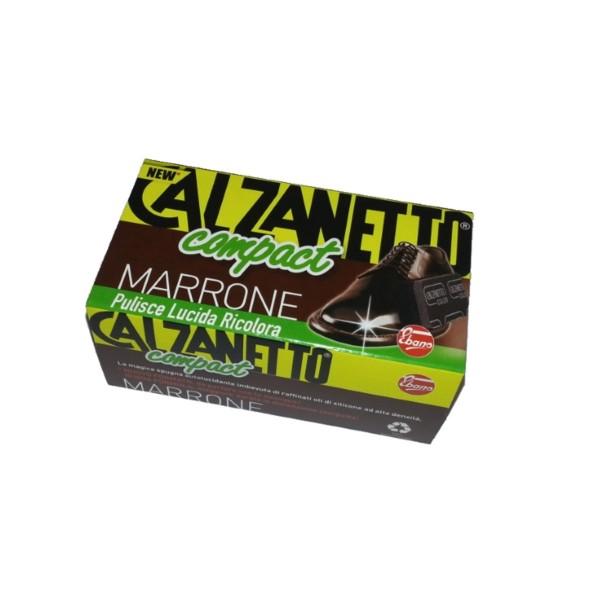 CALZANETTO COMPACT SPUGNA AUTOLUCIDANTE MARRONE , CURA SCARPE, S010265, 16431