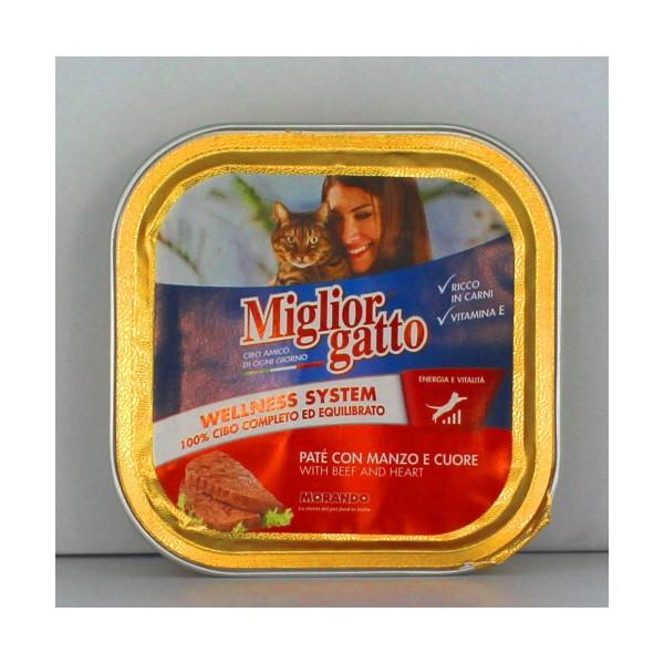 MIGLIOR GATTO PATE' MANZOeCUORE VASCHETTA 100 GRAMMI, NUTRIZIONE, S006395, 17232