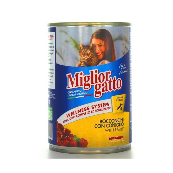 MIGLIOR GATTO BOCCONCINI CONIGLIO LATTINA 405 GRAMMI , NUTRIZIONE, S000358, 17494