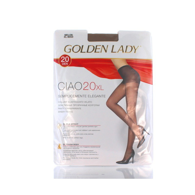 GOLDEN LADY CIAO COLLANT 20 DEN MELON TAGLIA XL