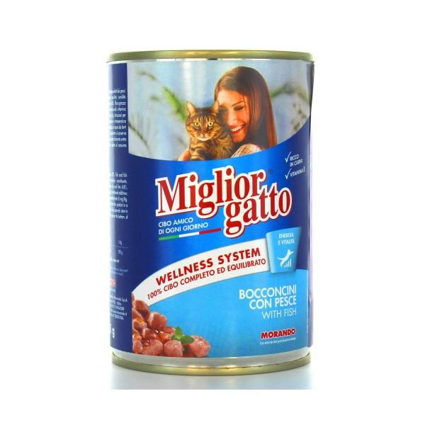 MIGLIOR GATTO BOCCONCINI PESCE LATTINA 405 GRAMMI , NUTRIZIONE, S006632, 18372