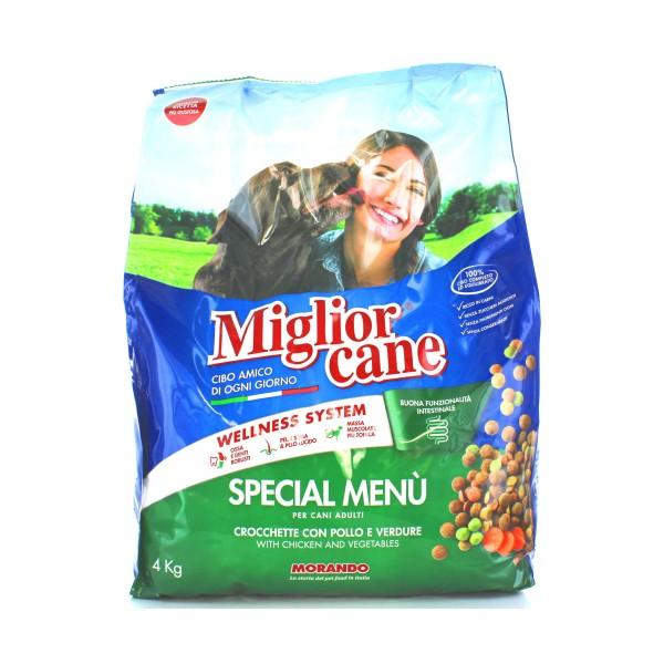 MIGLIOR CANE SPECIAL MENU' CROCCHETTE CON POLLO e VERDURE SACCO 4 KG , NUTRIZIONE, S020335, 19087