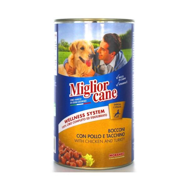 MIGLIOR CANE BOCCONI POLLO-TACCHINO LATTINA 1250 GRAMMI, NUTRIZIONE, S009343, 22307