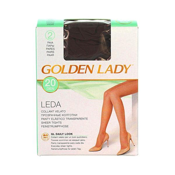 GOLDEN LADY LEDA 20 22A CASTORO 2 PAIA TAGLIA 2  , CALZE, COLLANT & GAMBALETTI, S016612, 25724