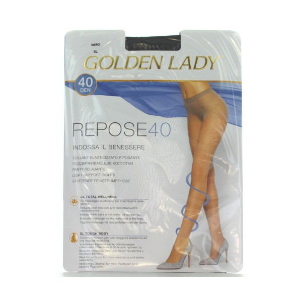 GOLDEN LADY REPOSE 40 36G NERO T.XL        , CALZE, COLLANT & GAMBALETTI, S016582, 36601