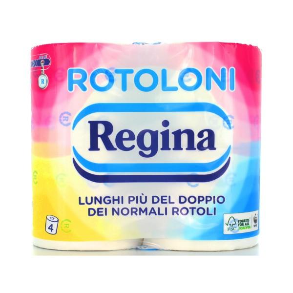 REGINA CARTA IGIENICA 4 ROTOLONI 2 VELI 500 STRAPPI, CARTA IGIENICA, S011593, 36806