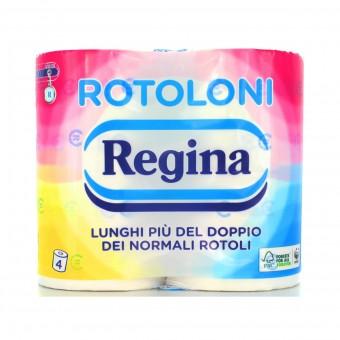 REGINA CARTA IGIENICA 4 ROTOLONI 2 VELI 500 STRAPPI