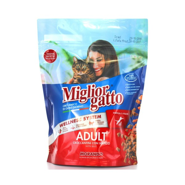 MIGLIOR GATTO CROCCANTINI CARNE BUSTA 400 GRAMMI, NUTRIZIONE, S006633, 37728