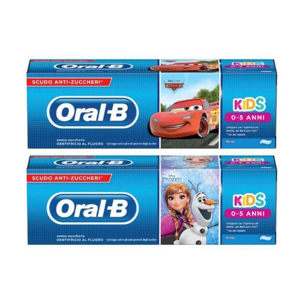 ORAL B DENTIFRICIO KIDS 0-5 ANNI ASSORTITO 75 ML     , DENTIFRICI, S003318, 39020