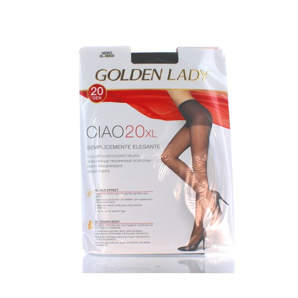 GOLDEN LADY CIAO COLLANT 20 DEN NERO TAGLIA XL          , CALZE, COLLANT & GAMBALETTI, S018497, 39883