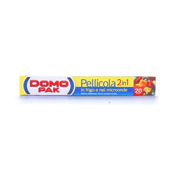 DOMOPAK PELLICOLA 2IN1 IN FRIGO E MICROONDE - 20 METRI, AVVOLGENTI ALIMENTARI, S018823, 41641