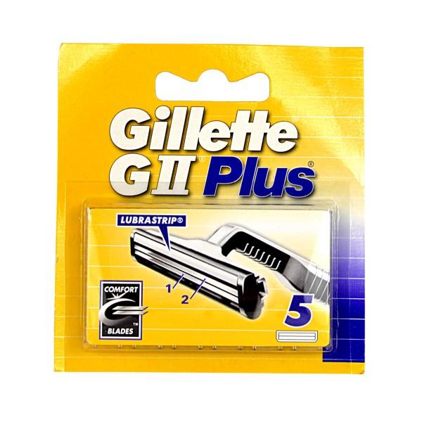 GILLETTE G2 PLUS RICAMBI 5 PZ.  , LAME E RASOI PER UOMO, S005970, 41775