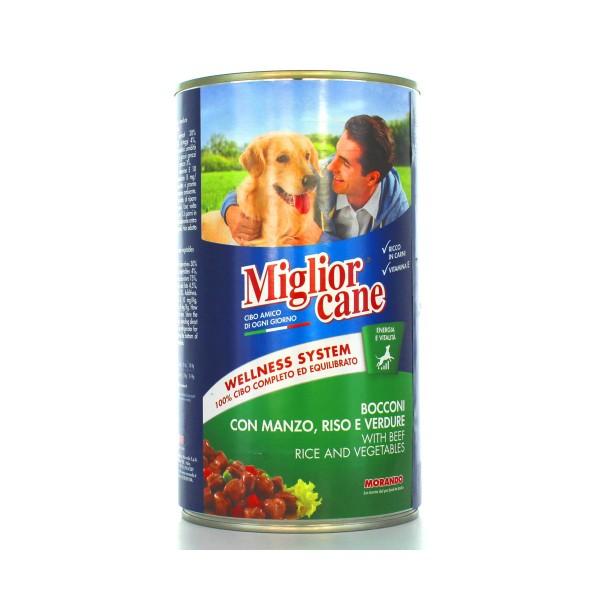 MIGLIOR CANE BOCCONI MANZO, RISOeVERDURE LATTINA 1250 GRAMMI, NUTRIZIONE, S009293, 41845