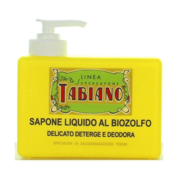 TABIANO SAPONE LIQUIDO MANI AL BIOZOLFO DISPENSER 250 ML - SPECIALITA' DI SALSOMAGGIORE TERME, SAPONI, S139206, 54698
