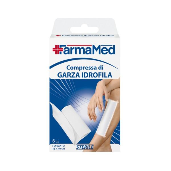 FARMAMED COMPRESSE GARZA 6 PZ 18x40, MEDICAZIONE & PRONTO SOCCORSO, S023284, 57977