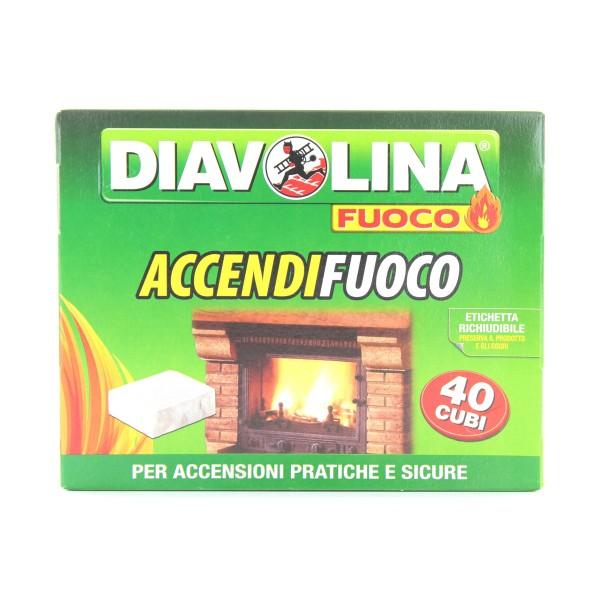 DIAVOLINA ACCENDIGRILL 40 CUBI, ACCENDIFUOCO, S001659, 61238