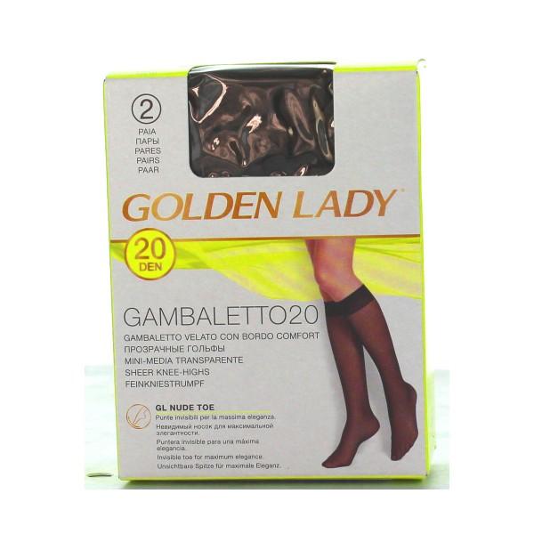 GOLDEN LADY GAMBALETTO 20 DEN CASTORO TAGLIA UNICA  , CALZE, COLLANT & GAMBALETTI, S016639, 6184