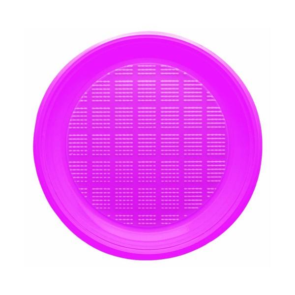 BIBO 30 PIATTI FUCSIA ROTONDI IN PLASTICA DM 21,5 CM, ACCESSORI TAVOLA USA E GETTA, S148549, 69005