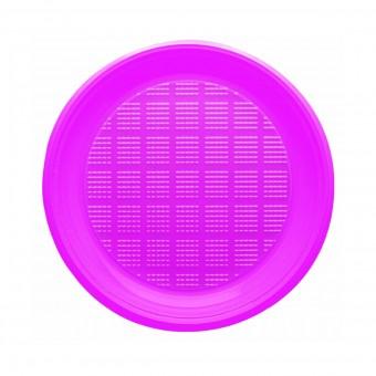 BIBO 30 PIATTI FUCSIA ROTONDI IN PLASTICA DM 21,5 CM