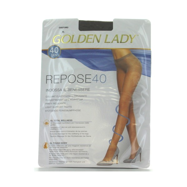 GOLDEN LADY REPOSE 40 36G CASTORO T.XL     , CALZE, COLLANT & GAMBALETTI, S016590, 69370