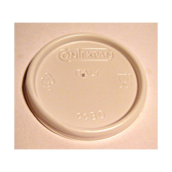 CONTEXPAN-BIO COPERCHIO PER BICCHIERI CAFFE' TERMICO 100 PEZZI, ACCESSORI TAVOLA USA E GETTA, S017453, 6950