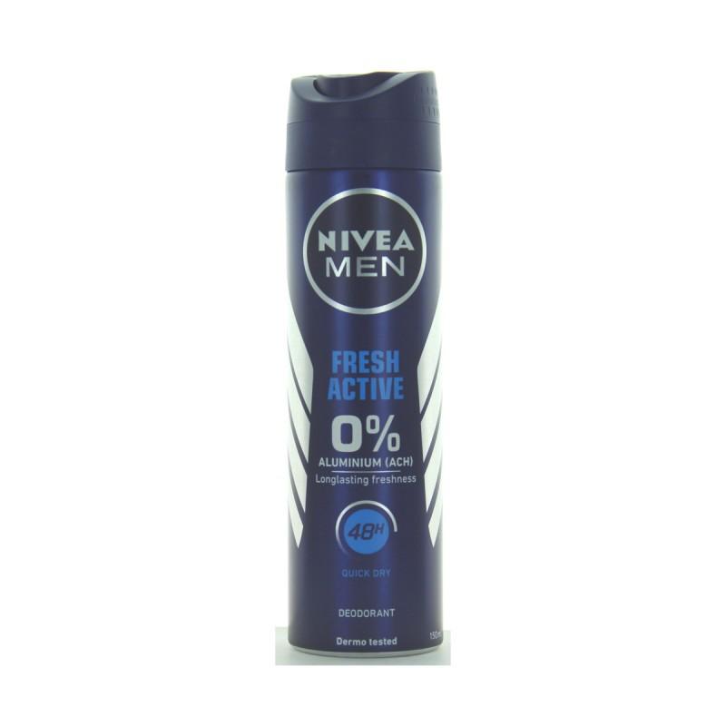 NIVEA FOR MEN DEODORANTE SPRAY 48H FRESH ACTIVE 150 ML