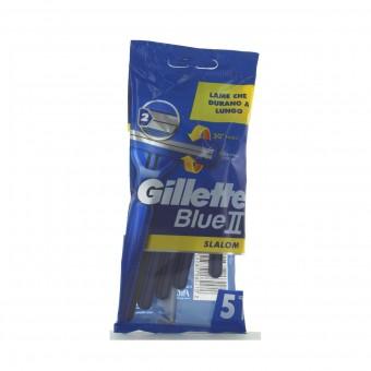 GILLETTE BLUE II RASOIO SLALOM 5 PZ.