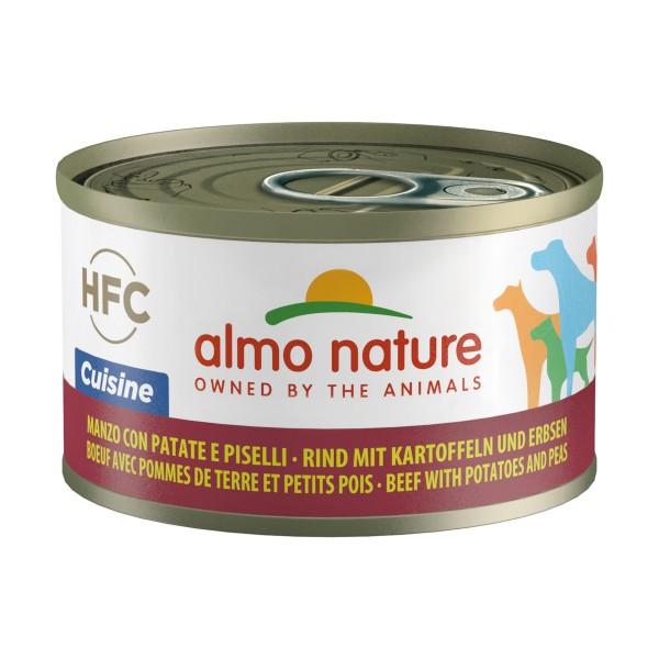 ALMO NATURE CUISINE CANE - MANZO CON PATATE E PISELLI LATTINA 95 grammi, NUTRIZIONE, S157417, 70002