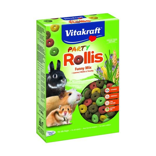 VITAKRAFT PARTY ROLLIS MIX CROCCANTINI PER RODITORI SCATOLA 500 grammi, ALTRI ANIMALI, S157402, 70006