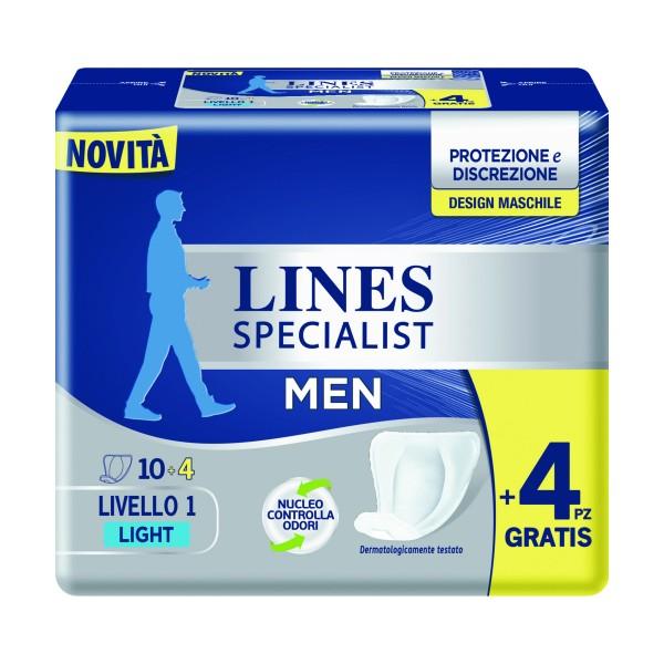 LINES SPECIALIST MEN LEVEL 1 LIGHT 14 PZ, INCONTINENZA ADULTI, S157182, 70104