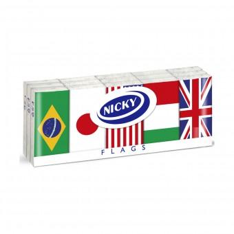 NICKY FAZZOLETTI 15 PACCHI DA 9 FAZZOLETTI 4 VELI FLAGS