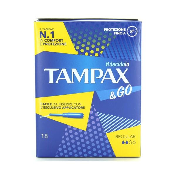 TAMPAX & GO ASSORBENTI INTERNI REGULAR 18 PZ , ASSORBENTI INTERNI, S155701, 70590