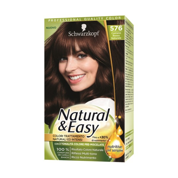 NATURAL & EASY COLOR 576 CASTANO ROSSO NATURALE, COLORANTI, S154887, 70735