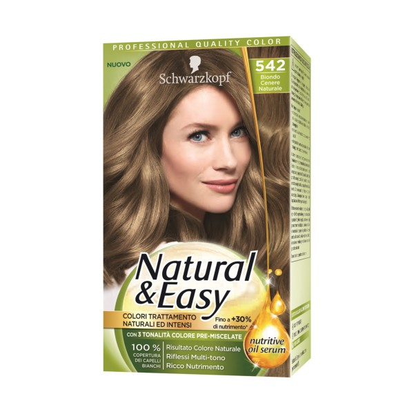NATURAL & EASY COLOR 542 BIONDO CENERE NATURALE, COLORANTI, S154886, 70736