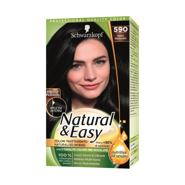 NATURAL & EASY COLOR 590 NERO NATURALE, COLORANTI, S154877, 70745