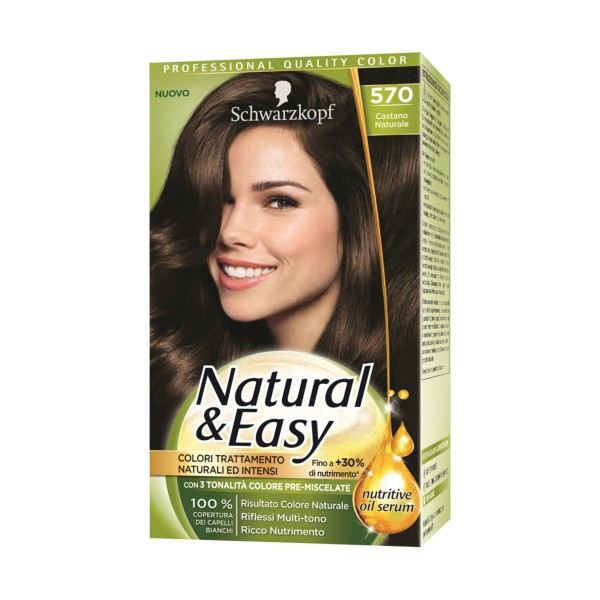 NATURAL & EASY COLOR 570 CASTANO NATURALE  , COLORANTI, S157422, 70746