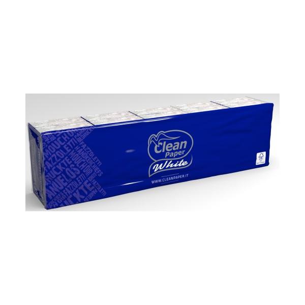 CLEAN PAPER WHITE FAZZOLETTI 10x10 PACCHETTI MINI 4 VELI , FAZZOLETTI / VELINE, S154657, 70837