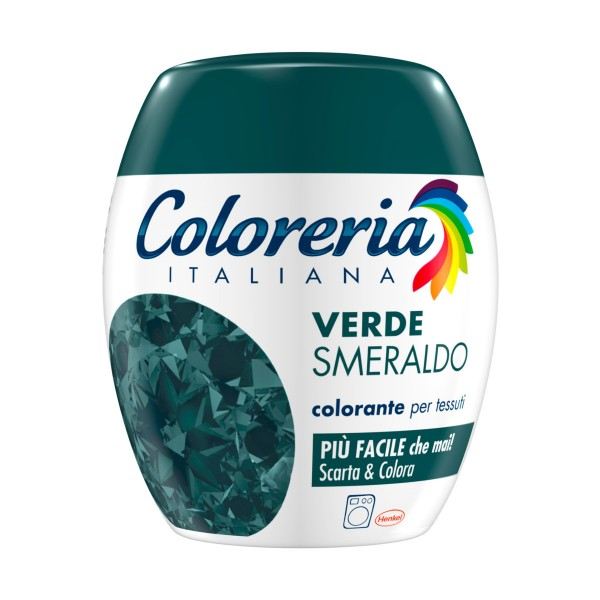 COLORERIA ITALIANA VERDE SMERALDO COLORANTE PER TESSUTI, COLORANTI/DECOLORANTI PER TESSUTI, S154486, 70886