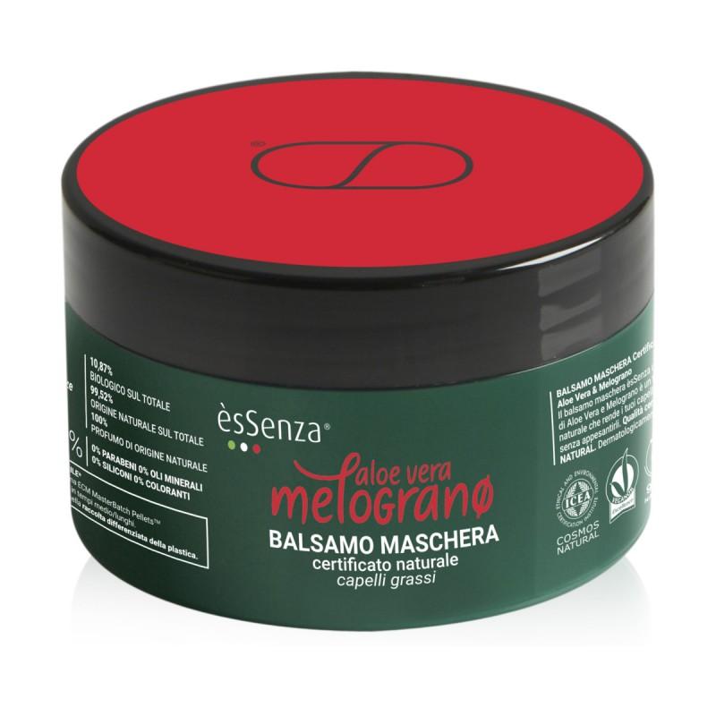 ESSENZA BALSAMO MASCHERA CAPELLI ALOE VERA & MELOGRANO CAPELLI GRASSI VASO 200 ML